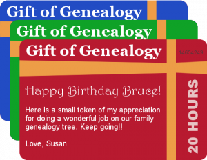 genealogy gift card